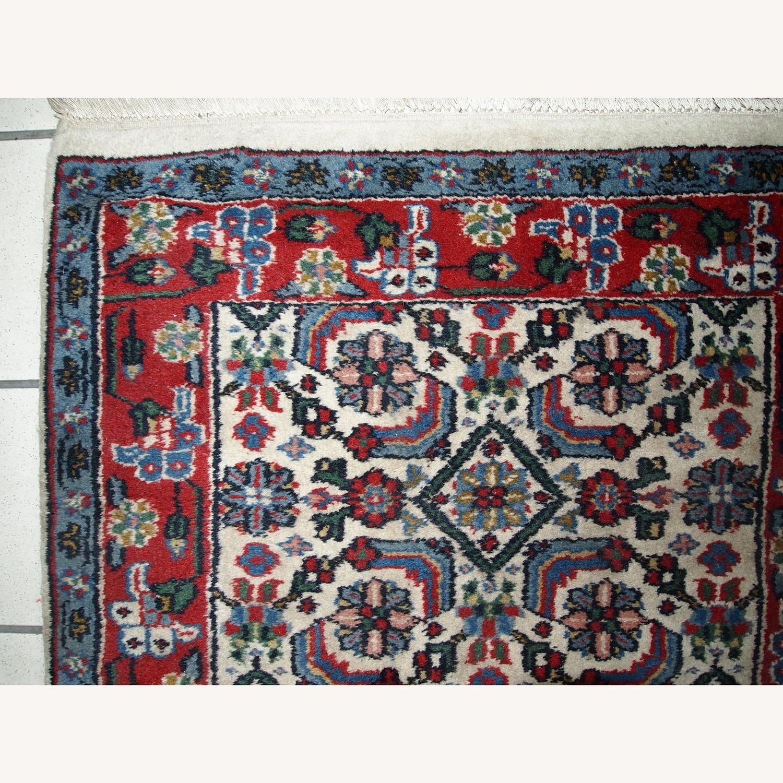 Handmade Vintage Indian Agra Rug - image-5