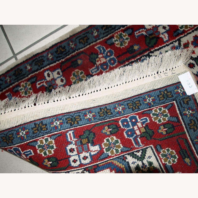 Handmade Vintage Indian Agra Rug - image-3