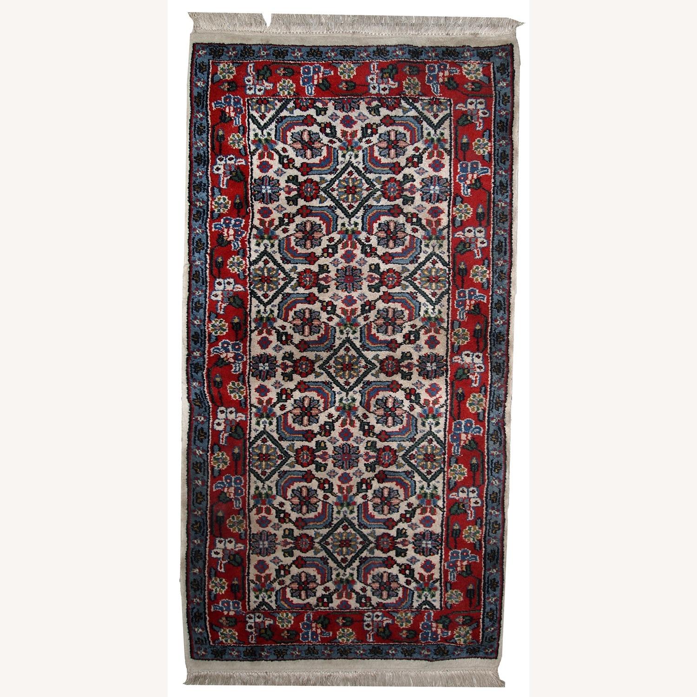 Handmade Vintage Indian Agra Rug - image-1