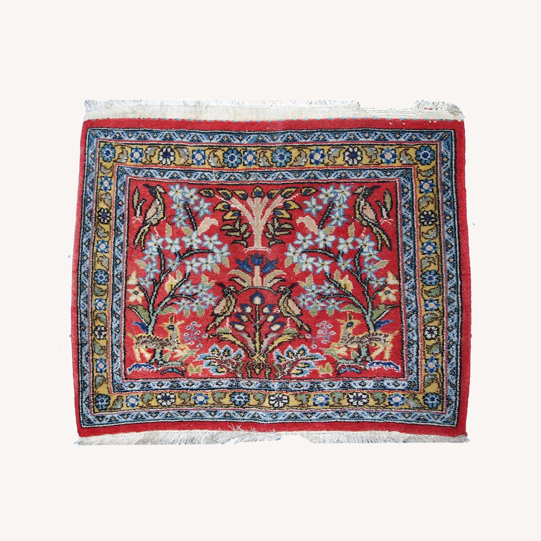 Handmade Vintage Persian Tabriz Mat - image-0