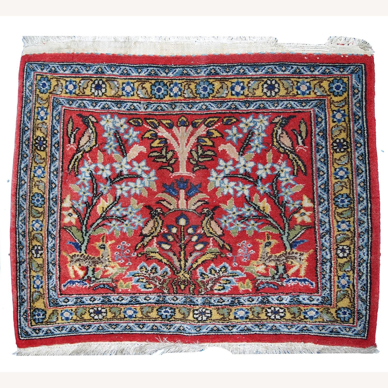 Handmade Vintage Persian Tabriz Mat - image-1
