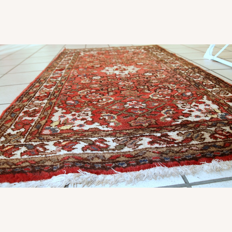 Handmade Vintage Persian Hamadan Rug - image-7