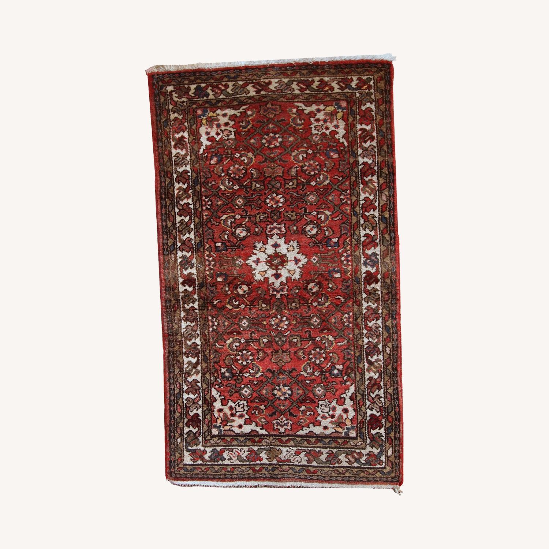 Handmade Vintage Persian Hamadan Rug - image-0