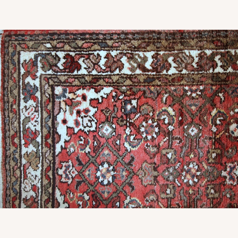 Handmade Vintage Persian Hamadan Rug - image-6