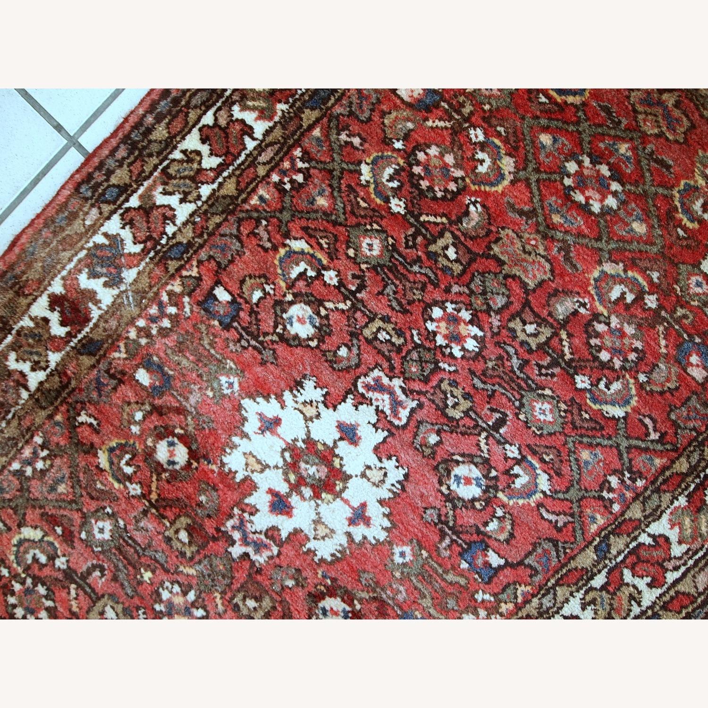 Handmade Vintage Persian Hamadan Rug - image-9