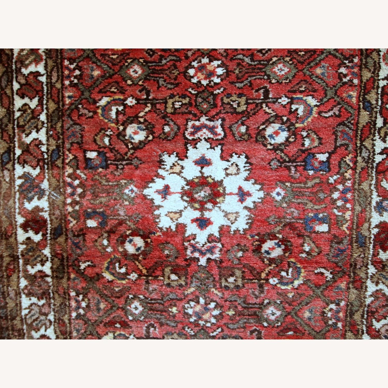 Handmade Vintage Persian Hamadan Rug - image-11