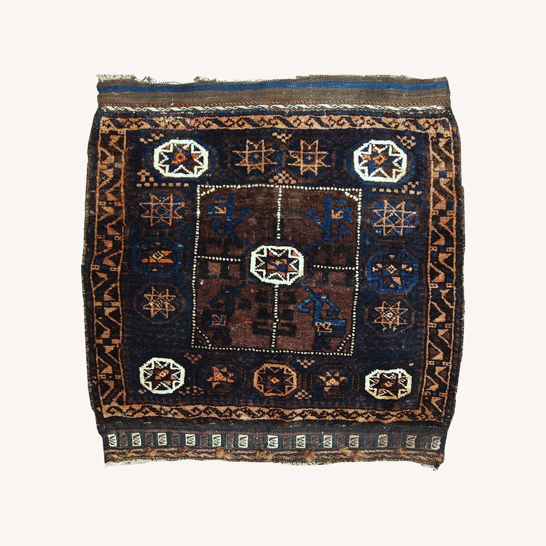 Handmade Antique Afghan Baluch Bagface - image-0