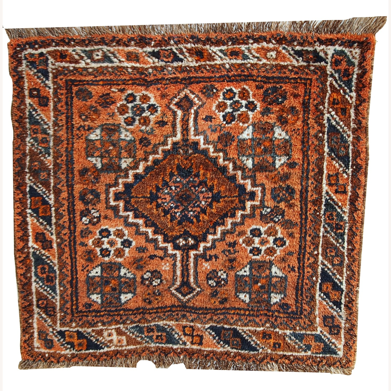 Handmade Antique Persian Shiraz Bagface - image-1