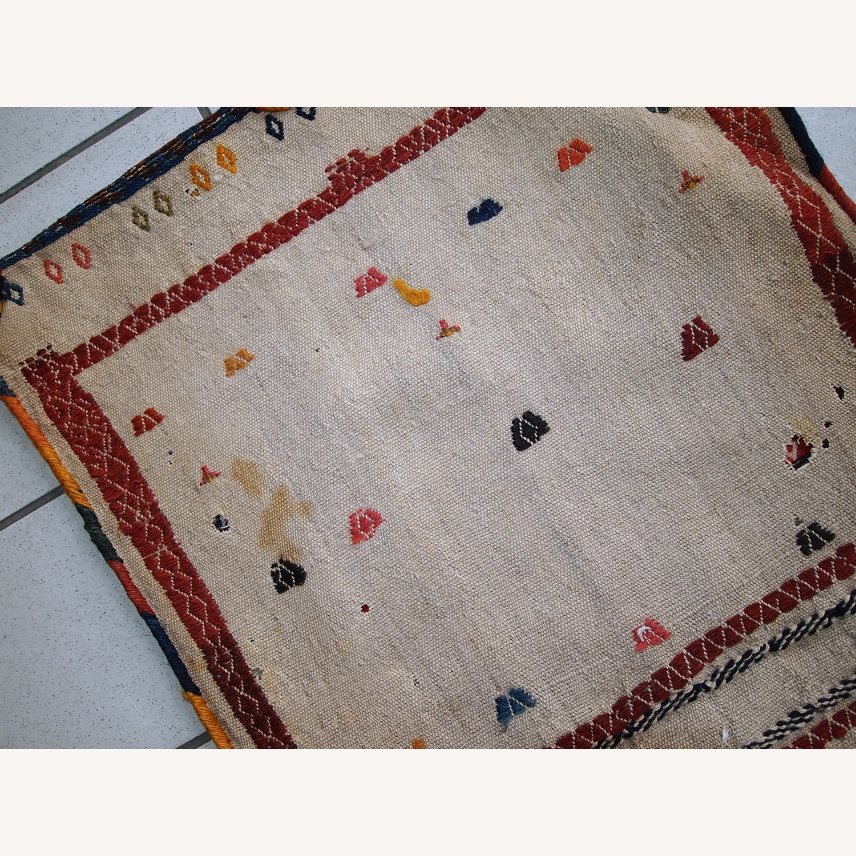 Handmade Antique Persian Sumak Sadle Double Bag - image-11