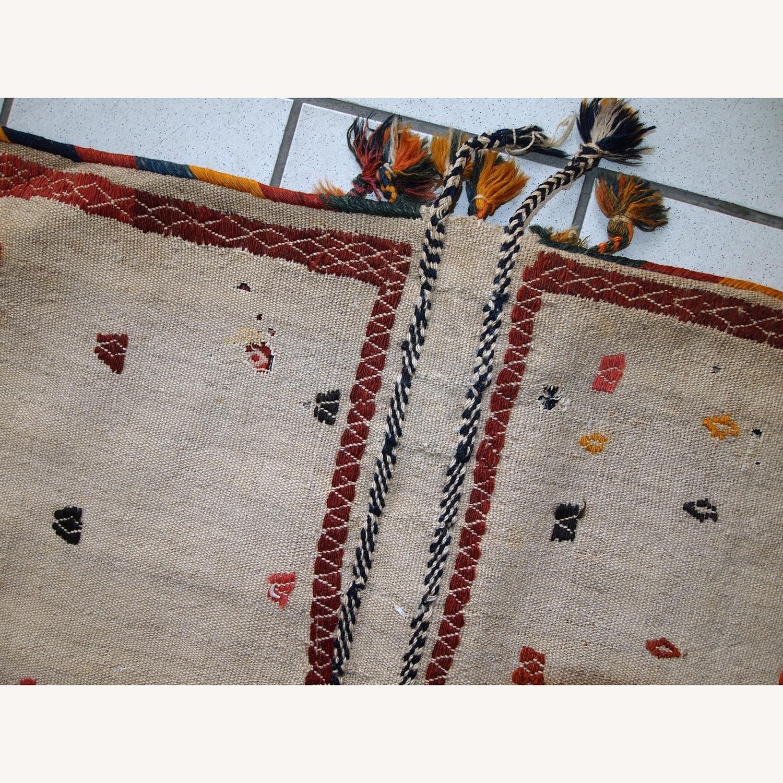 Handmade Antique Persian Sumak Sadle Double Bag - image-10