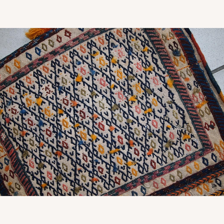 Handmade Antique Persian Sumak Sadle Double Bag - image-5