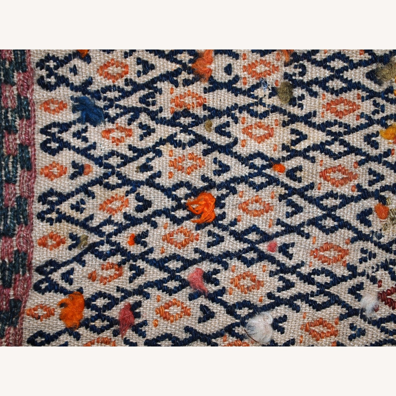 Handmade Antique Persian Sumak Sadle Double Bag - image-9