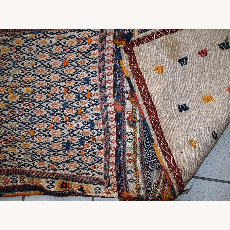 Handmade Antique Persian Sumak Sadle Double Bag - image-3
