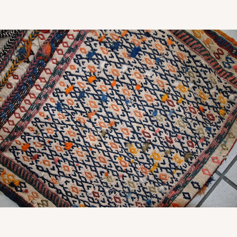 Handmade Antique Persian Sumak Sadle Double Bag - image-7