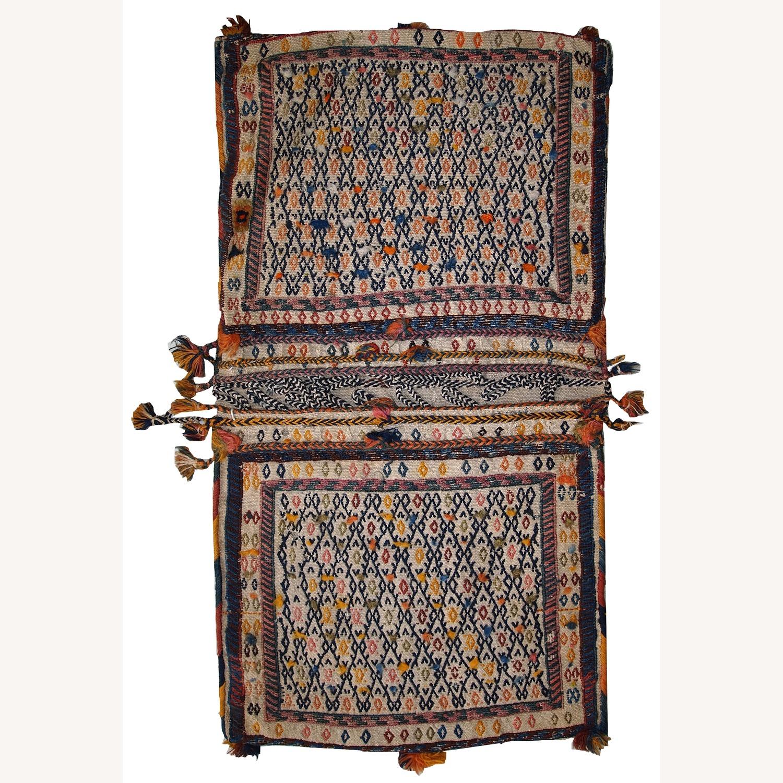 Handmade Antique Persian Sumak Sadle Double Bag - image-1