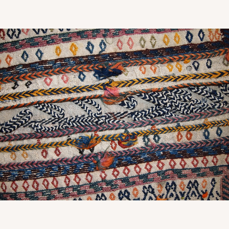 Handmade Antique Persian Sumak Sadle Double Bag - image-4
