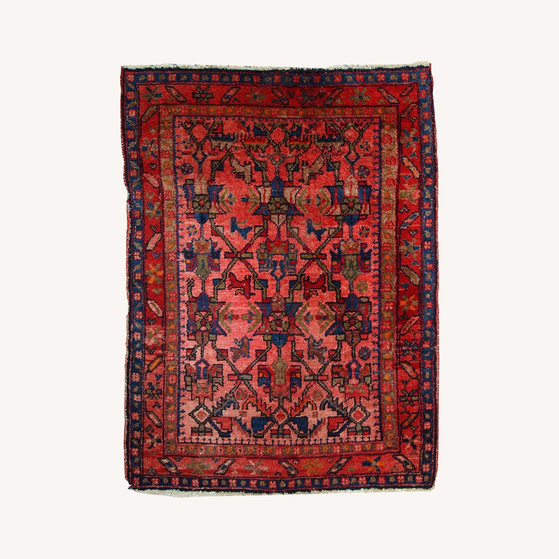 Handmade Antique Persian Malayer Rug - image-0