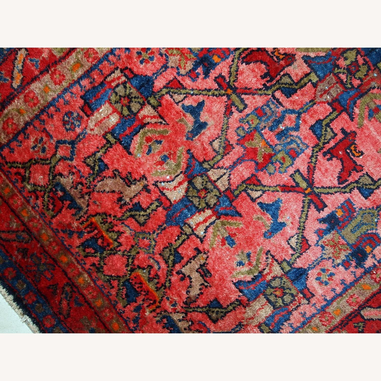 Handmade Antique Persian Malayer Rug - image-7