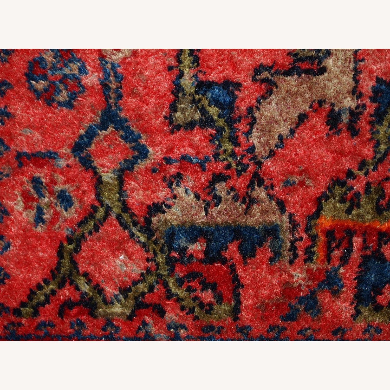 Handmade Antique Persian Malayer Rug - image-8
