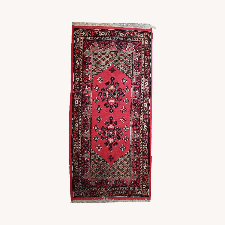 Handmade Vintage Algerian Berber Rug - image-0