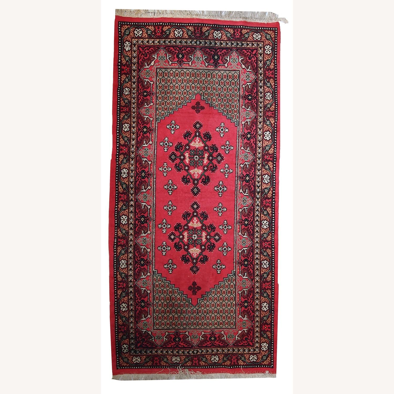 Handmade Vintage Algerian Berber Rug - image-1