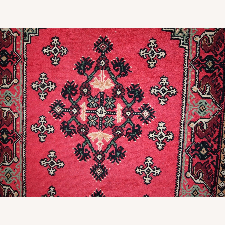 Handmade Vintage Algerian Berber Rug - image-9