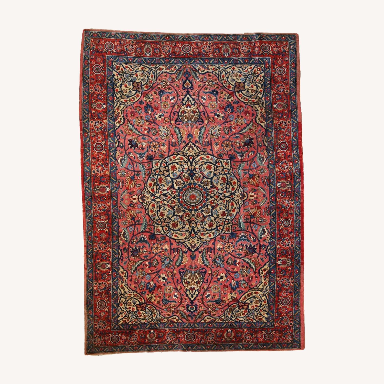 Handmade Antique Persian Lilihan Rug - image-0