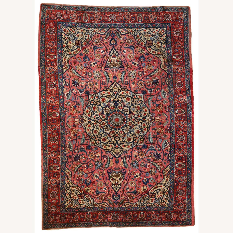 Handmade Antique Persian Lilihan Rug - image-1