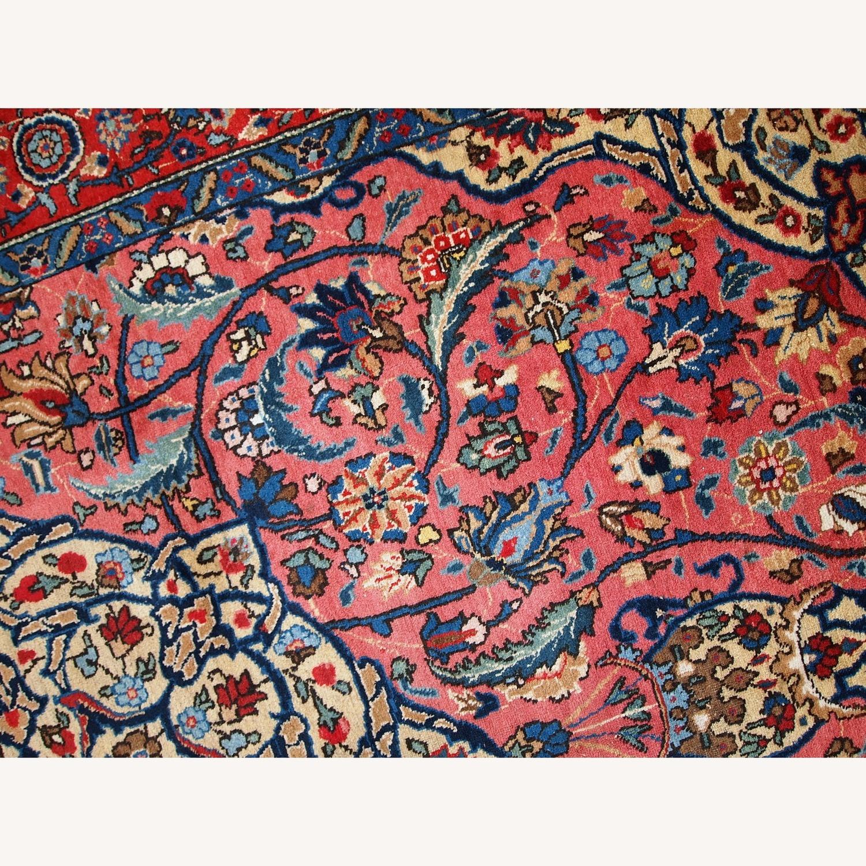 Handmade Antique Persian Lilihan Rug - image-7