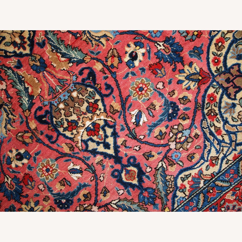Handmade Antique Persian Lilihan Rug - image-10