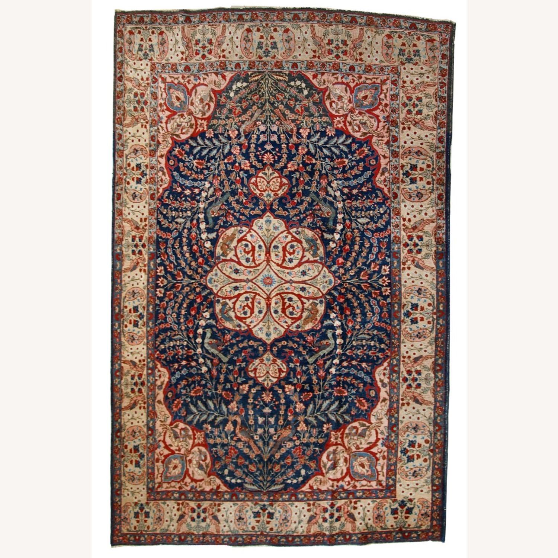 Handmade Antique Persian Tabriz Rug - image-1