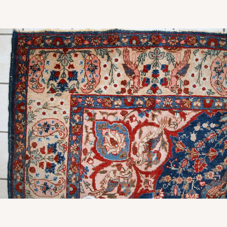 Handmade Antique Persian Tabriz Rug - image-10