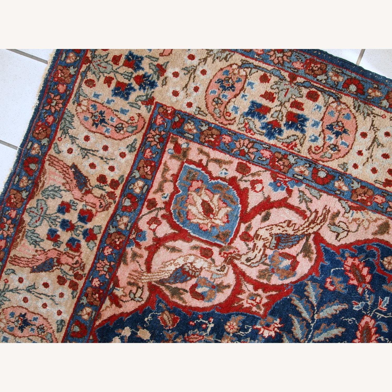 Handmade Antique Persian Tabriz Rug - image-8