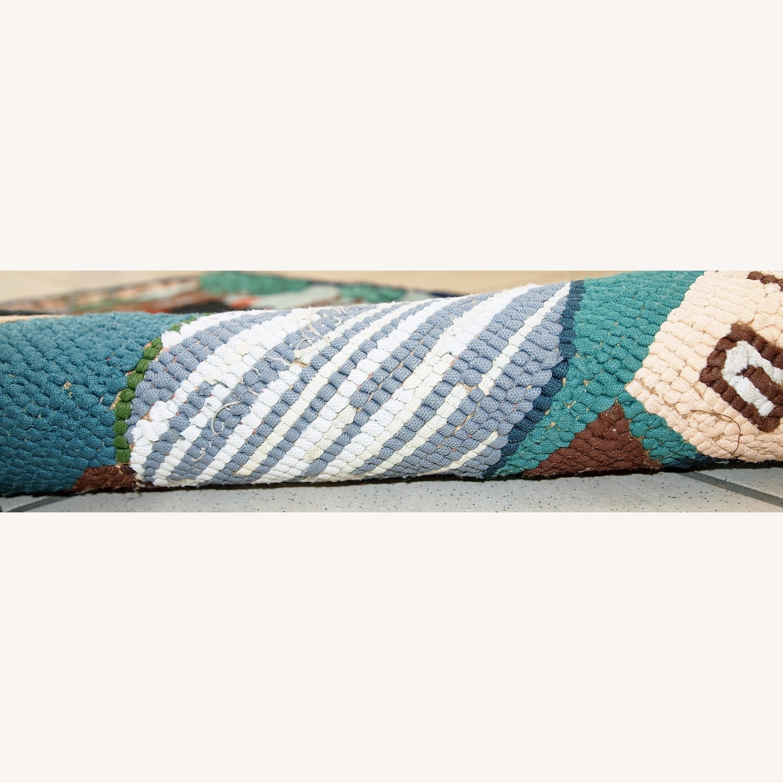 Handmade Vintage American Hooked Rug - image-3