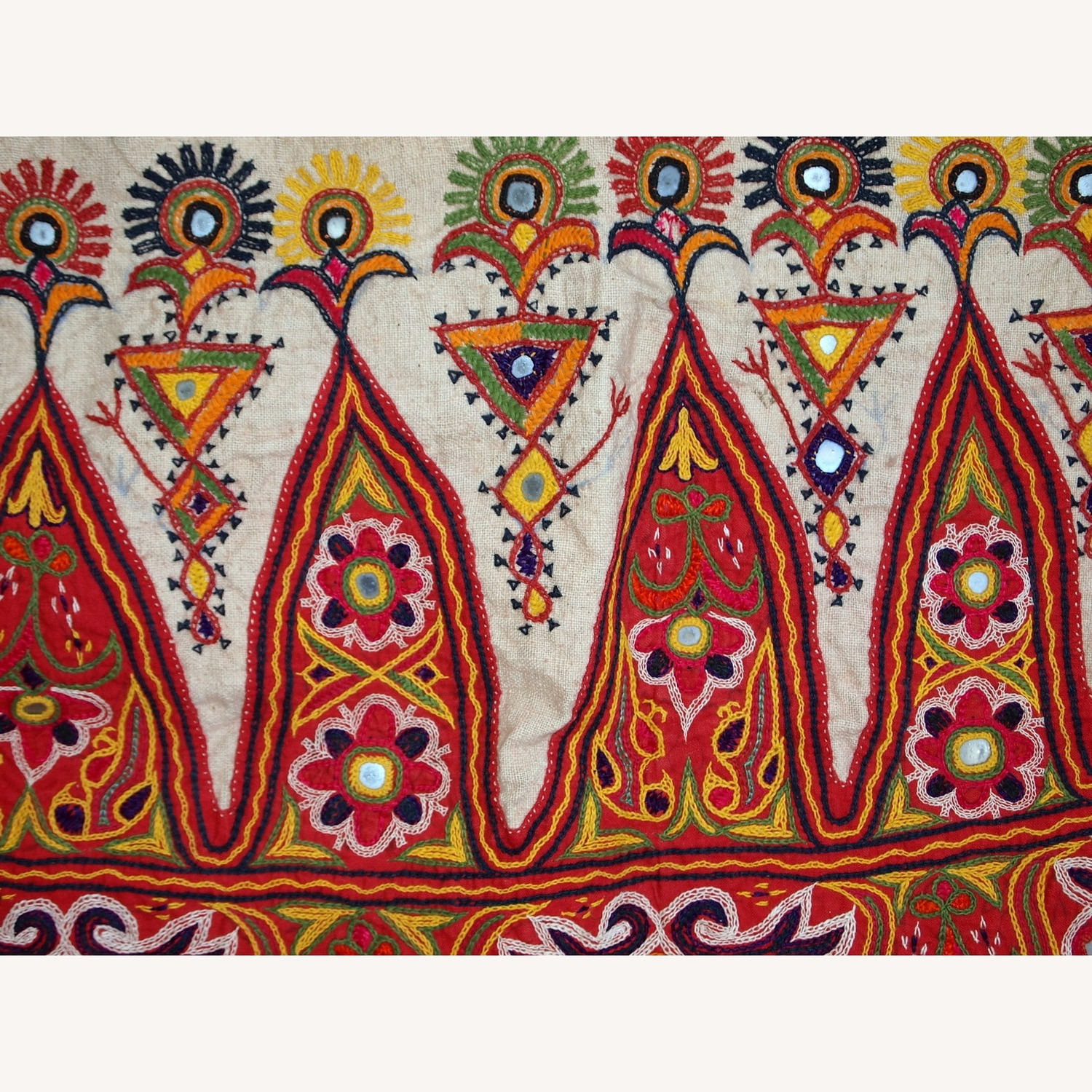 Handmade Indian Wall Hanging Embroidered Tapestry - image-6