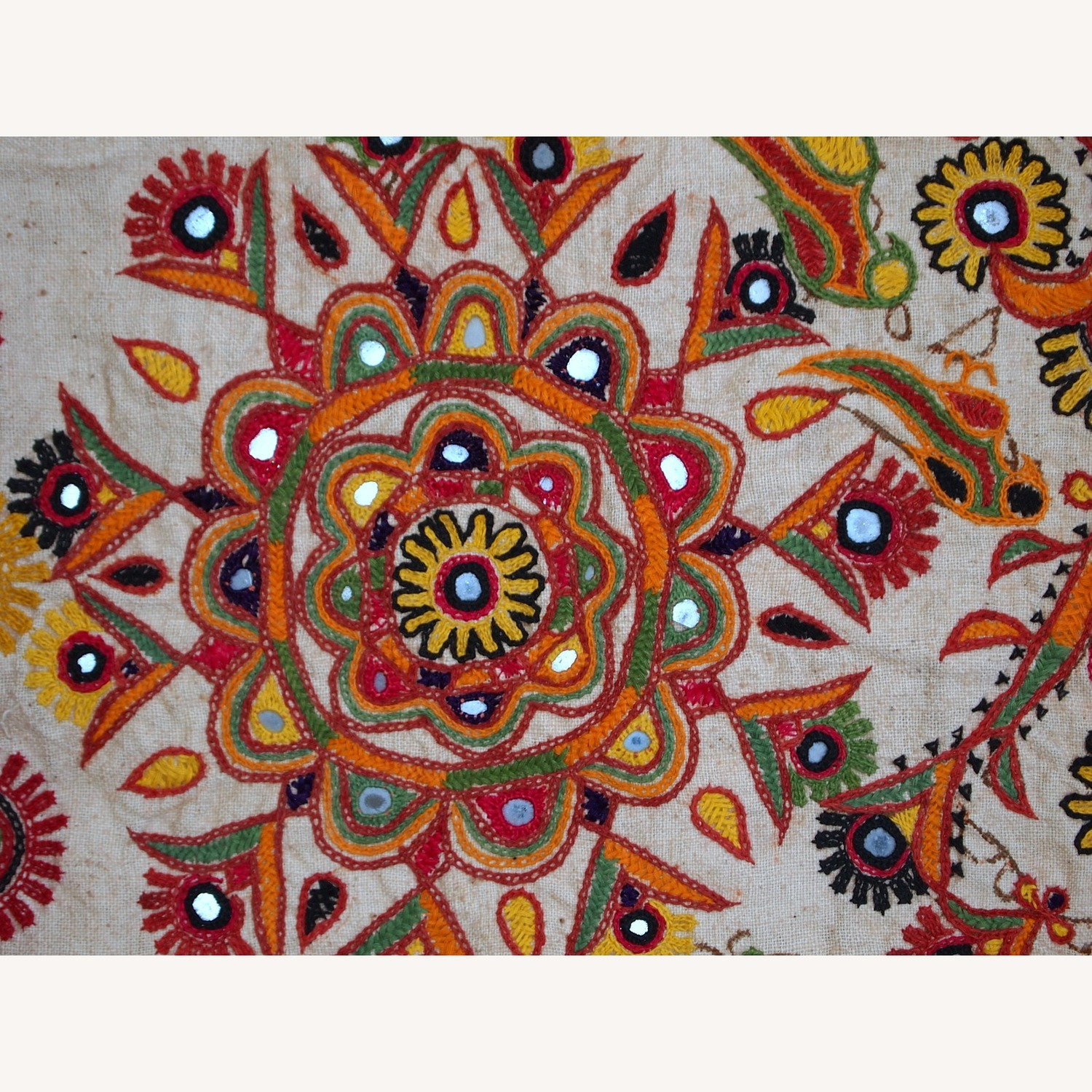 Handmade Indian Wall Hanging Embroidered Tapestry - image-11