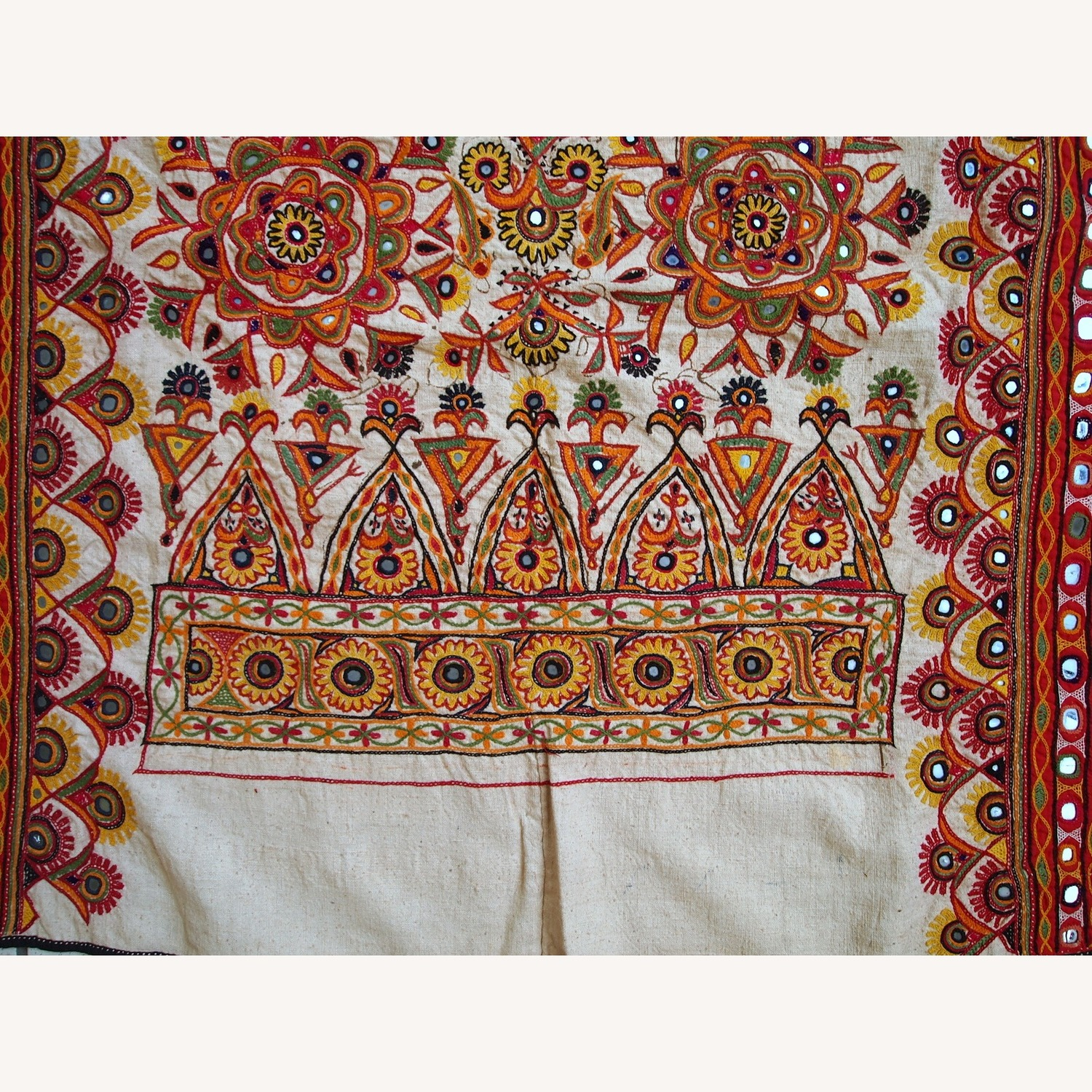 Handmade Indian Wall Hanging Embroidered Tapestry - image-12