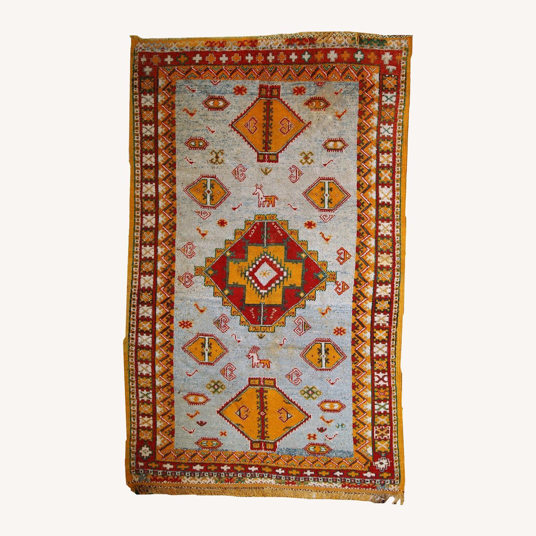 Handmade Antique Moroccan Berber Rug - image-0
