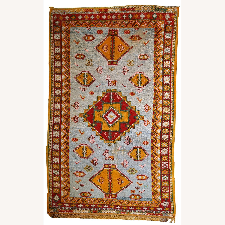 Handmade Antique Moroccan Berber Rug - image-1