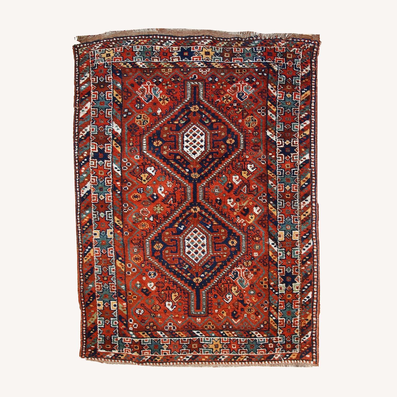 Handmade Antique Persian Gashkai Rug - image-0