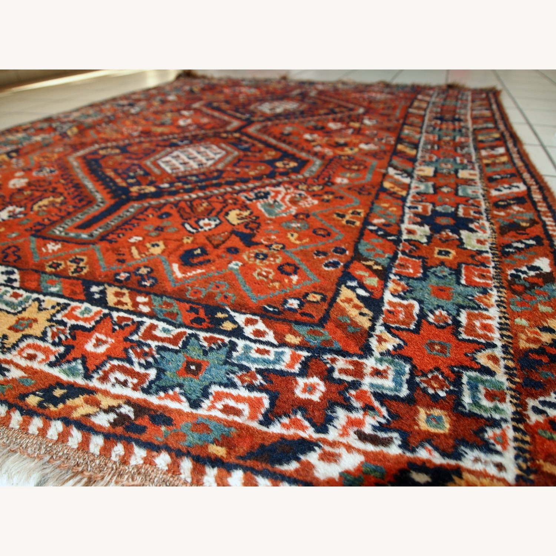 Handmade Antique Persian Gashkai Rug - image-5