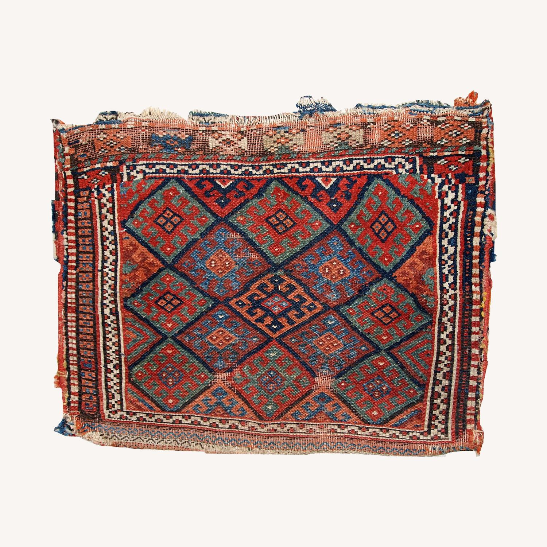 Handmade Antique Collectible Persian Kurdish Bag - image-0