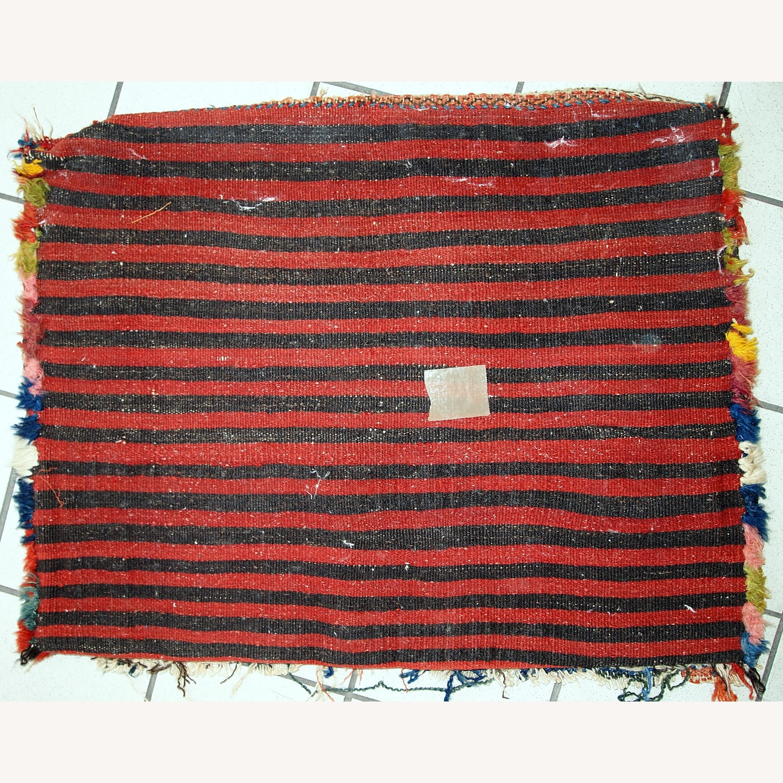 Handmade Antique Collectible Persian Kurdish Bag - image-10