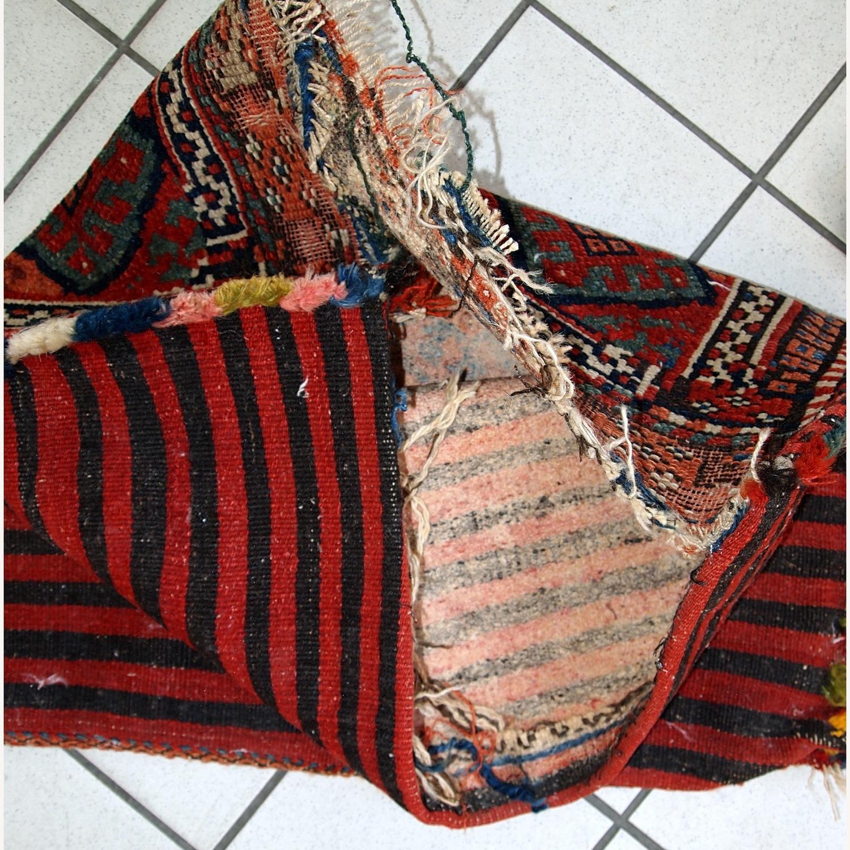 Handmade Antique Collectible Persian Kurdish Bag - image-9