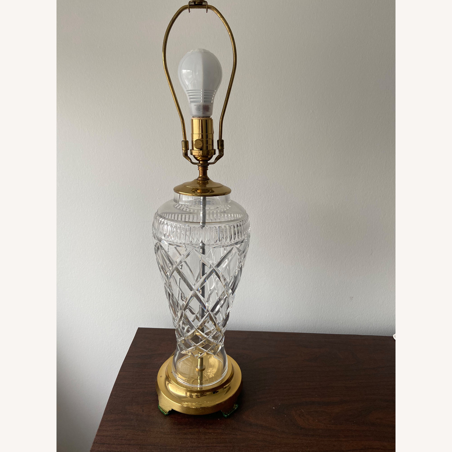 Waterford Crystal Signed Rare Killeen Table Lamp - image-3