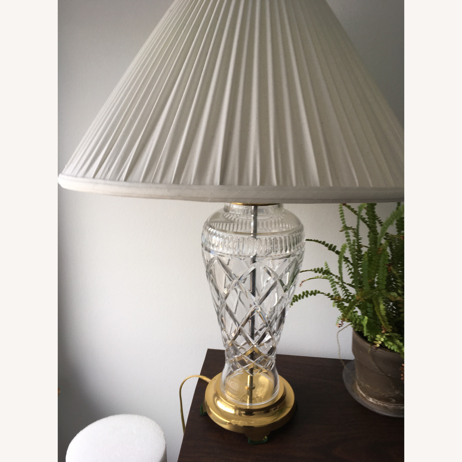 Waterford Crystal Signed Rare Killeen Table Lamp - image-1