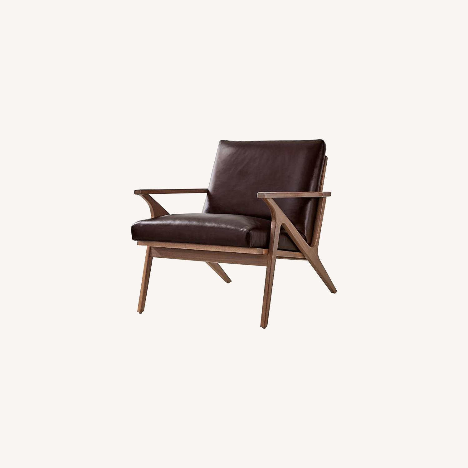 Crate & Barrel Cavett Chair and Ottoman - image-0
