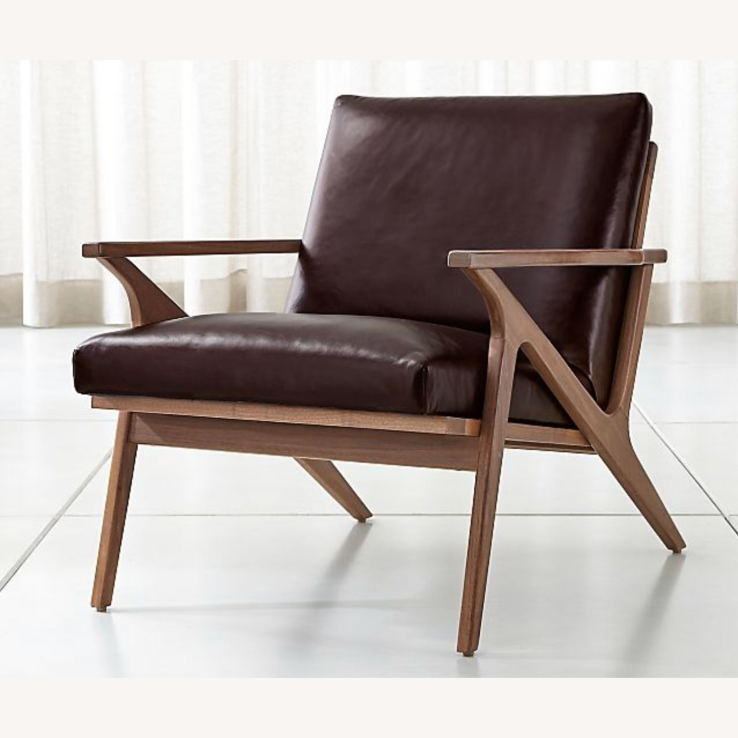 Crate & Barrel Cavett Chair and Ottoman - image-3