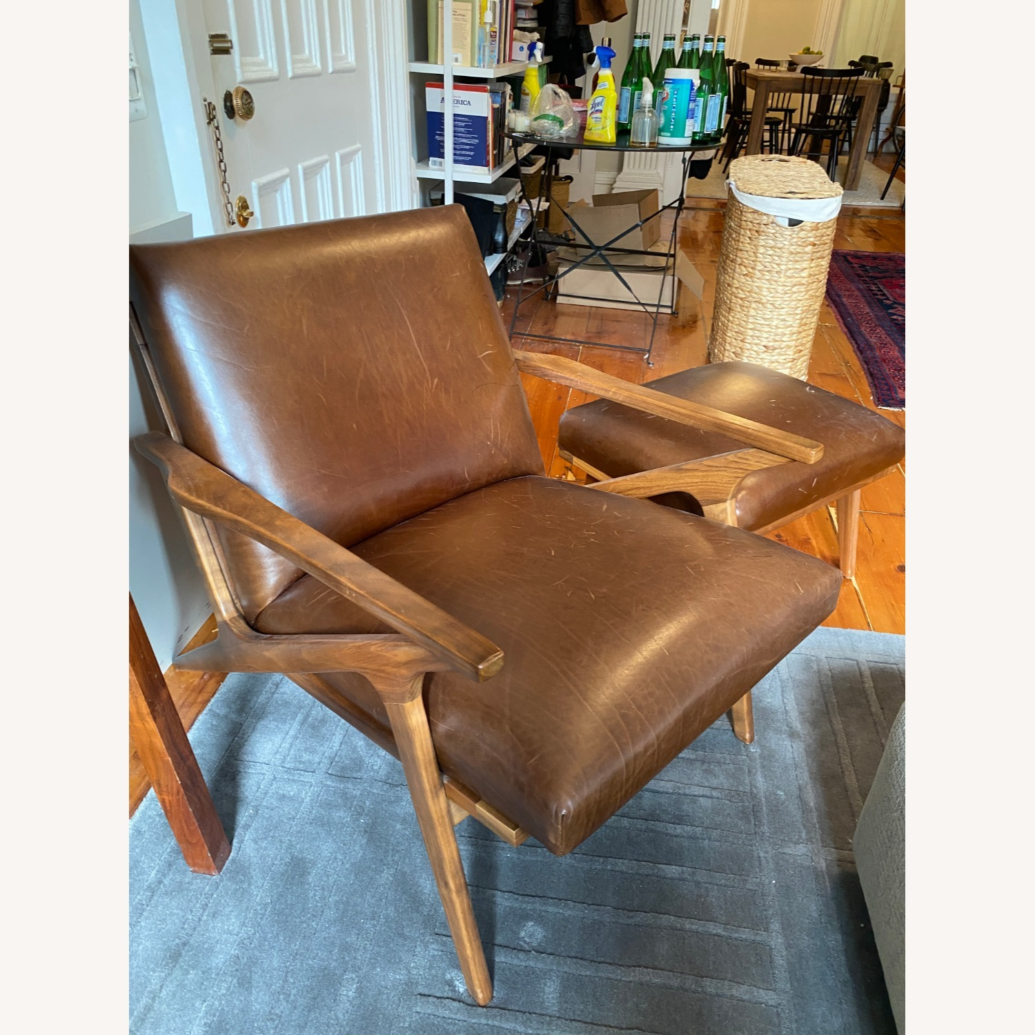 Crate & Barrel Cavett Chair and Ottoman - image-6