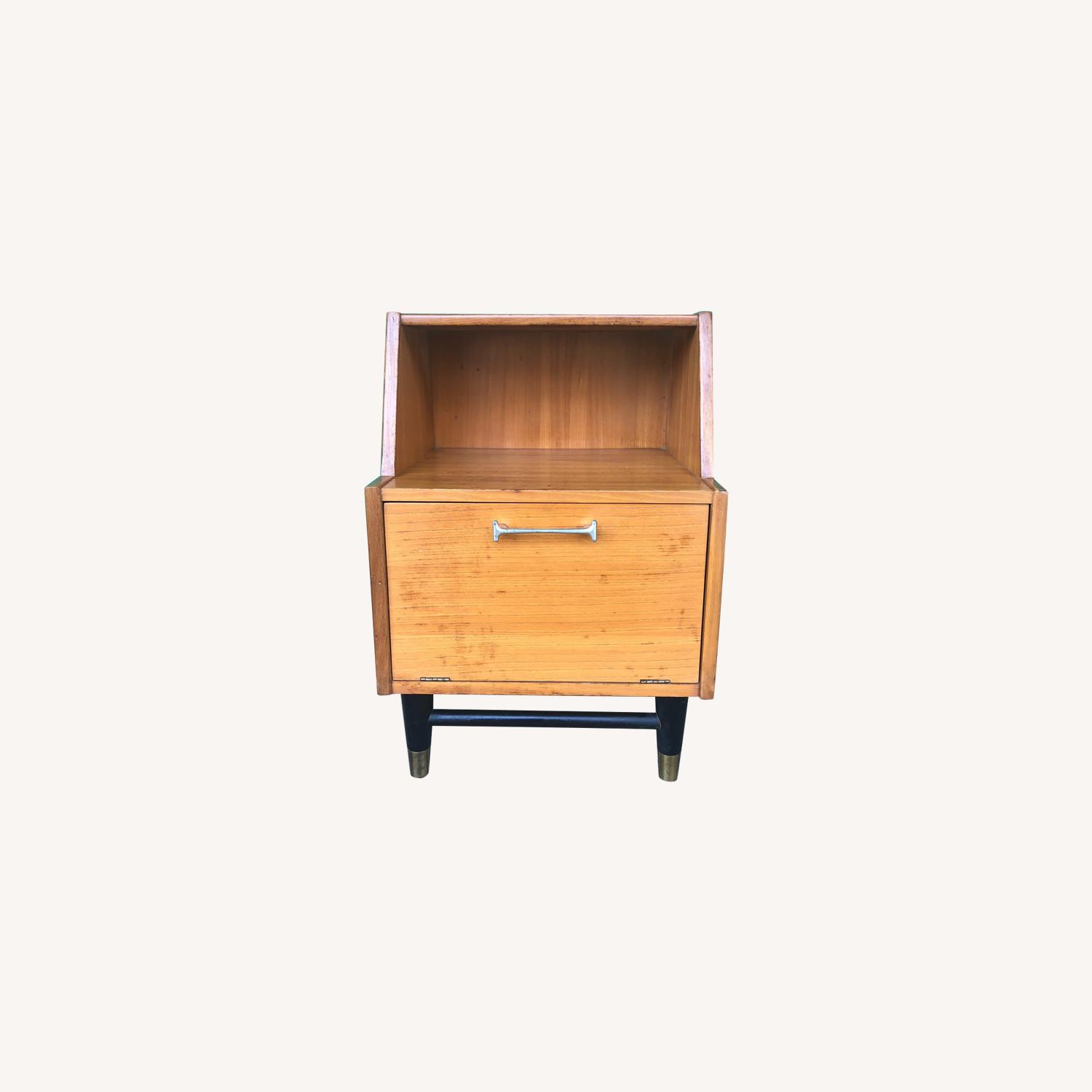 Mid century nightstand with drop front by Drexel - image-0